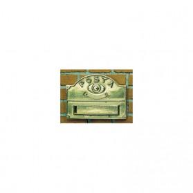 Placca per lettere Alubox A3 in ottone brunito